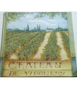 SERVIETTE CHATEAU DE VIDONERY