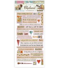 CHIPBOARD ATELIER DES ARTS CITATIONS 15X30 - DFLCB24
