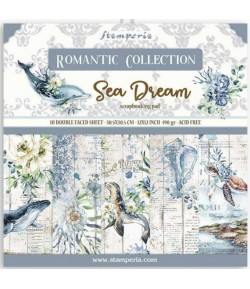 BLOC 10 FEUILLES ROMANTIC SEA DREAM 30X30CM - SBBL87 STAMPERIA