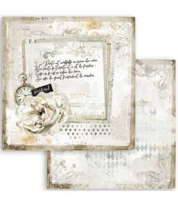 PAPIER ATELIER ROMANTIC JOURNAL LETTRE 30X30CM - SBB783 - STAMPERIA