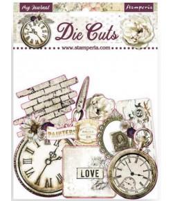 FORMES CARTON - DIE CUTS  ROMANTIC MY JOURNAL  - DFLDC34