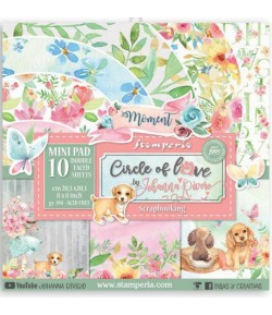 BLOC 10 FEUILLES CIRCLE OF LOVE 20.3X20.3CM - SBBS32 STAMPERIA