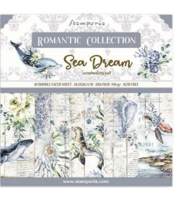 BLOC 10 FEUILLES ROMANTIC SEA LAND 20.3X20.3CM - SBBS35 STAMPERIA