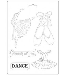 MOULE PVC FLEXIBLE PASSION - DANSEUSE 21 X 29.7 CM - K3PTA493