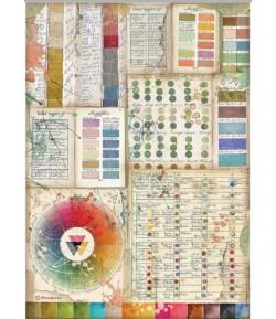PAPIER DE RIZ A4 ATELIER DES ARTS PANTONE CHARTS - 21X29.7 - DFSA4552 - STAMPERIA