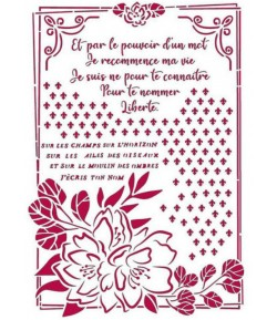 POCHOIR ROMANTIC JOURNAL CADRE 21X29.7CM KSG457