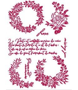 POCHOIR ROMANTIC JOURNAL GUIRLANDES 21X29.7CM KSG461