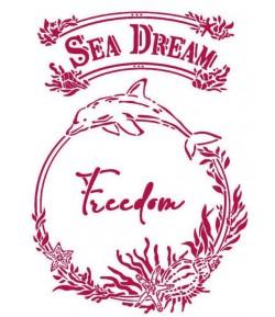 POCHOIR ROMANTIC SEA DREAM FREEDOM 21X29.7CM KSG462