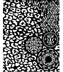 POCHOIR AMAZONIA ANIMAL WITH TRIBALS 20X25 EP 0.25 KSTD062 STAMPERIA