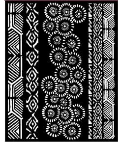 POCHOIR AMAZONIA TRIBAL 20X25 EP 0.25 KSTD063 STAMPERIA