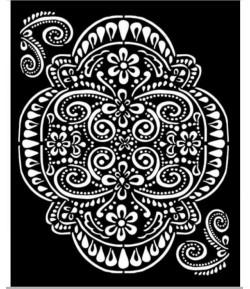 POCHOIR ATELIER DENTELLE 20X25 EP 0.25 KSTD073 STAMPERIA