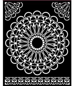POCHOIR ATELIER DENTELLE RONDE 20X25 EP 0.25 KSTD074 STAMPERIA