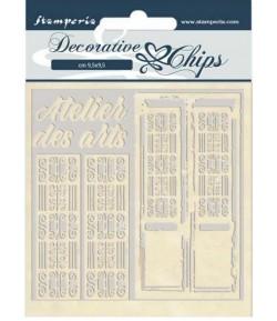 FORMES CARTON DECORATIVE CHIPS ATELIER DES ARTS 14X14CM - SCB48
