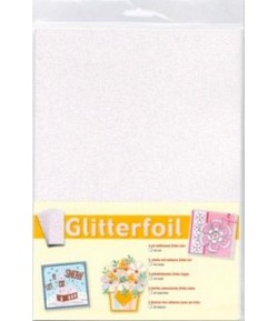 5 FEUILLES PAILLETEES ADHESIVES - A4