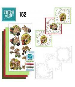 KIT 3D A BRODER FOREST ANIMALS - STITCH AND DO - STDO152