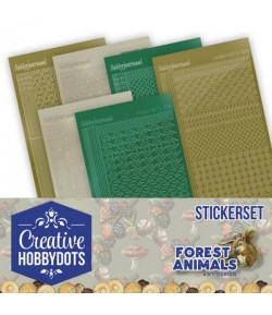LOT 8 STICKERS DOT AND DO FOREST ANIMALS - CHSTS012