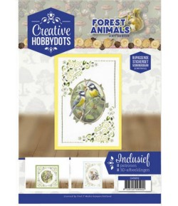 LIVRET CARTES DOT ET FEUILLES 3D FOREST ANIMALS - CH10012