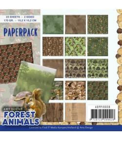 BLOC 23 FEUILLES 15 X 15 CM - FOREST ANIMALS ADPP10038