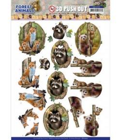 FEUILLE 3D FOREST ANIMALS - SB10535