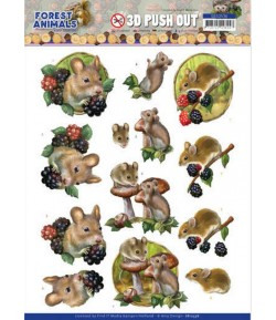FEUILLE 3D FOREST ANIMALS - SB10536
