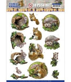 FEUILLE 3D FOREST ANIMALS - SB10537