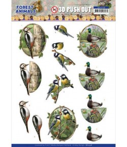 FEUILLE 3D FOREST ANIMALS - SB10538