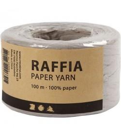 RAPHIA GRIS CLAIR - 100 M