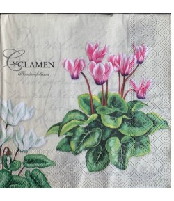 SERVIETTE CYCLAMENS