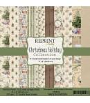 BLOC 10 FEUILLES 20 X 20 CM -  CHRISTMAS HOLIDAY - REPRINT