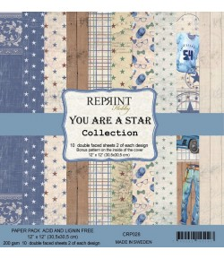 BLOC 10 FEUILLES 30 X 30 CM -  YOU ARE A STAR - REPRINT