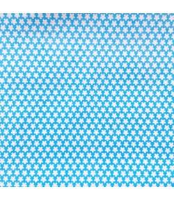 TISSU BLEU A ETOILES BLANCHES - 10 CM X 160 CM