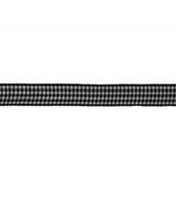 RUBAN VICHY NOIR 10MM - 1 M