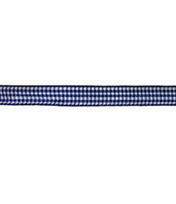 RUBAN VICHY BLEU MARINE 10MM - 1 M