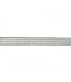 RUBAN VICHY GRIS CLAIR 10MM - 1 M