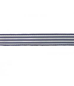 RUBAN RAYURES BLEU MARINE 10MM - 1 M