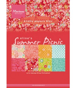 BLOC PAPIER A5 SUMMER PICNIC - MARIANNE DESIGN