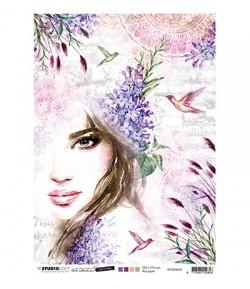 PAPIER DE RIZ A4  FEMME 21 X 29.7 - STUDIOLIGHT