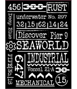 POCHOIR 15X20 EP 0.5 SEA WORLD WRITINGS KSAT11 STAMPERIA
