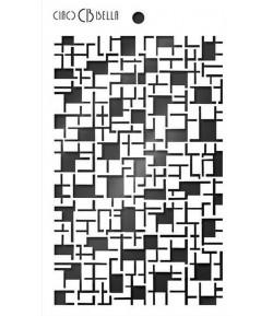 POCHOIR CROSSWORD 14.5 X 24 CM - CIAO BELLA MS009