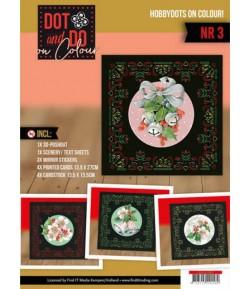 KIT COMPLET FEUILLES 3D PINK CHRISTMAS FLOWER COLOUR 3