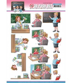 FEUILLE 3D BUBBLY GIRLS - PROFESSIONS SB10550