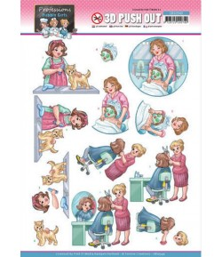 FEUILLE 3D BUBBLY GIRLS - PROFESSIONS SB10549