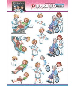 FEUILLE 3D BUBBLY GIRLS - PROFESSIONS - MEDICAL  SB10548