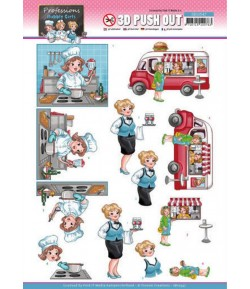 FEUILLE 3D BUBBLY GIRLS - PROFESSIONS - SB10547