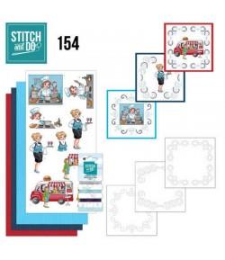 KIT 3D A BRODER BUBBLY GIRLS - STITCH AND DO - STDO154