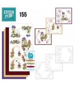 KIT 3D A BRODER  BEAUTIFUL GARDEN - STITCH AND DO - STDO155