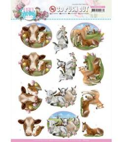 FEUILLE 3D FARM ANIMALS - SB10542