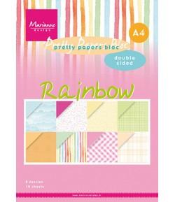 BLOC A4 RAINBOW - MARIANNE DESIGN - PK9175