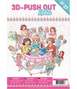 BLOC 3D A4 + PAPIERS -  BUBBLY GIRLS -  LADIES N°27