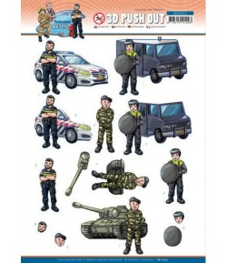 FEUILLE 3D BIG GUYS PROFESSIONS POLICE - SB10552